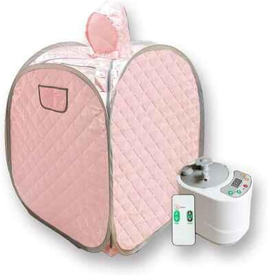 #4. Smartmak 2L One-Person Home Spa Portable Sauna Kit w/Remote Control for Detox