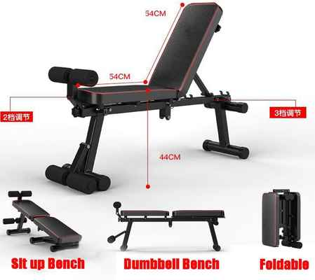 #7. GWW Multi-Functional Adjustable Fitness Bench Press for Full Body Workout Foldable Equipment