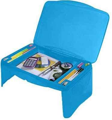 #7. MAVO CRAFT Laptop Desk Serving Tray Lap Desk Extra-Storage for Kids & Adults (Blue)