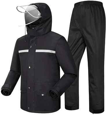 #6. G&Monday Breathable Lightweight Waterproof Outdoor Anti-Storm Hooded Rain Wear Suit