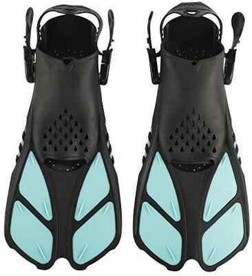 #10. XMsound Material TPR Open Heel Adjustable Buckles Travel Size Short Swim Fins