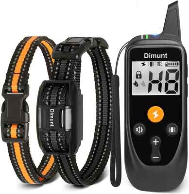 #10. DIMUNT 3350 Ft IP67 Waterproof Rechargeable Shock Dog Training Collar