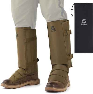 #5. Gonex Adjustable Size Waterproof Snake Bite Guards for Lower Legs for Men & Women