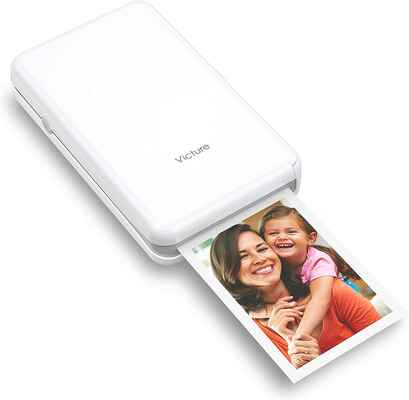 #6. VICTURE 4 Pass Tech Wireless Rechargeable Bluetooth Connection Portable Photo Printer