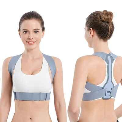 #8. CADIFET M 28'' – 34'' Upper Back Clavicle Chest Support Posture Corrector for Men & Women
