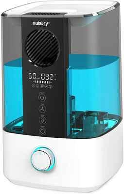 #6 NULAXY Auto-Off 4.5L Re-Fill Ultrasonic Top Fan Humidifier w/RGB & Alarm for Home