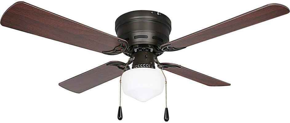 #10. HYKOLITY 42'' 3 Speed Ceiling Fan w/Reversible Blades for Home (Oil-Rubbed Bronze)