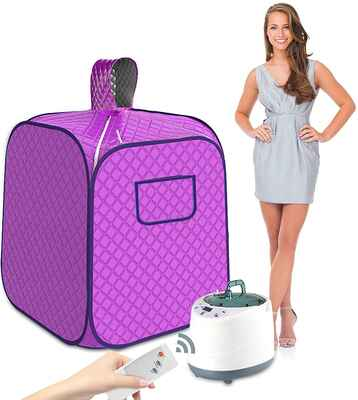 #9. SEAAN 2L Upgrade Personal Portable Steam Sauna Spa for Weight Loss Detox