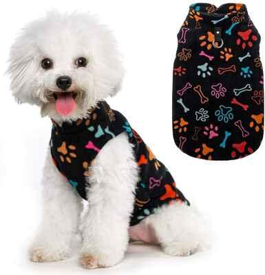 #10. HOMIMP Lightweight Windproof Puppy Polar Fleece Hoodie Small Dog Winter Coat