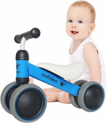 #2. Luddy Carbon Steel Frame Safe Baby Balance Bike Ride on Toys for One-Year-Old Child