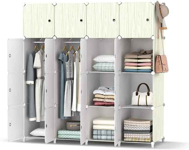 #1. HOMIDEC 56 x 18 x 56 '' Clothes Organizer Portable Closet Wardrobe w/Ganging Rod