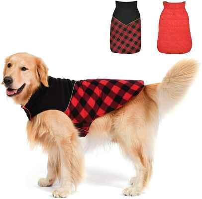 #1. Fragralley Waterproof Reversible Sweaters Small Medium & Large Dog Winter Coat