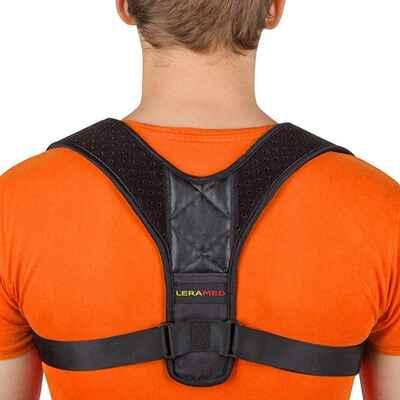 #10. LERAMED 24'' – 50'' Adjustable Upper Back Neck & Shoulder Pain Relief Posture Corrector