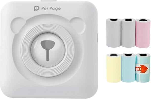 #8. WEICHA Bluetooth-enabled Mini-Thermal Printer Label Memo Portable Printer