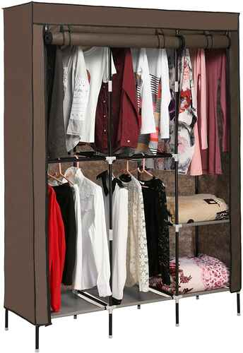 #5. HICIENT Dust-Proof Breathable Easy-to-Assembly Wardrobe Clothes Organizer Closet