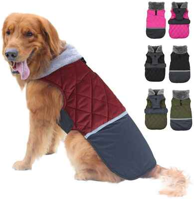 #4. EMUST 3XL Weather Warm Dog Reversible Small Medium Large Dogs for Winter