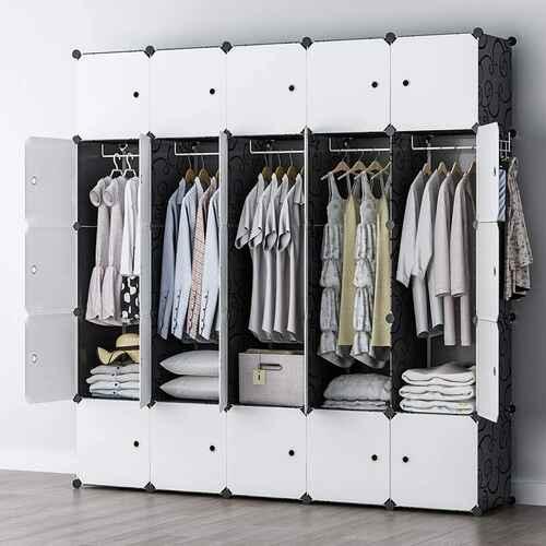 #8. GEORGE&DANIS 18'' Depth Shelf-DIY Furniture Portable Wardrobe Cube Storage Closet